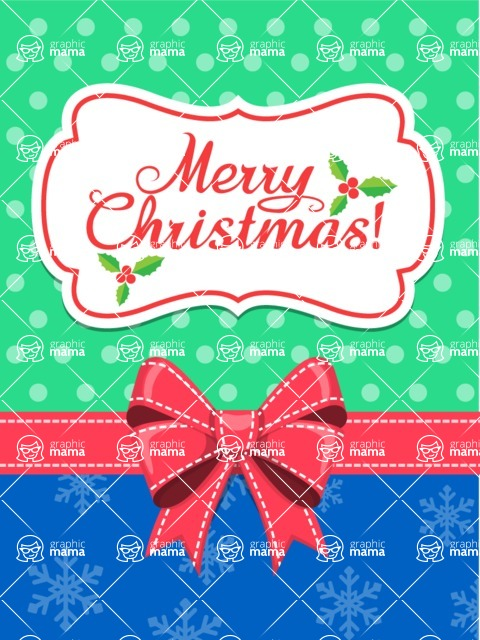 Christmas Card Vector Graphics Maker - Traditional Christmas Card
