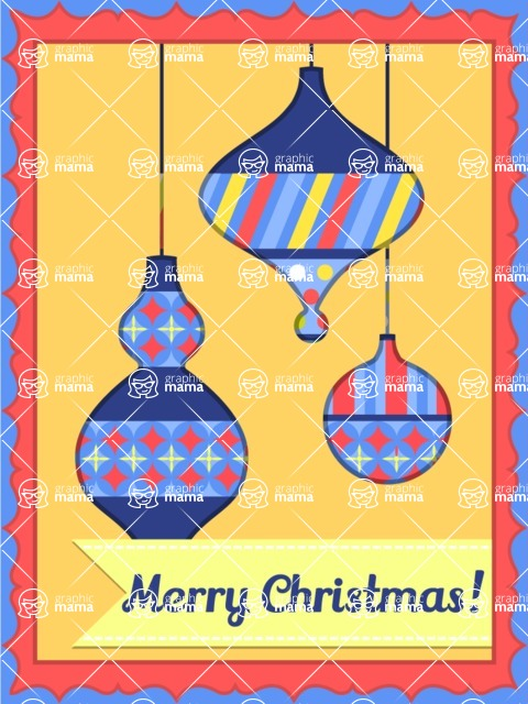Christmas Card Vector Graphics Maker - Merry Christmas Card with Toys
