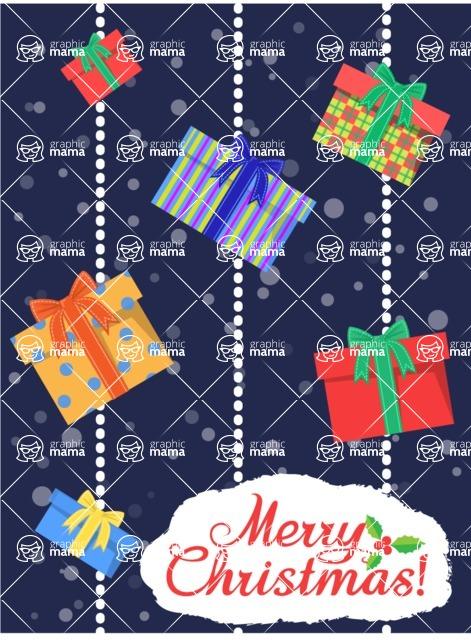 Christmas Card Vector Graphics Maker - Greeting Card with Christmas Presents