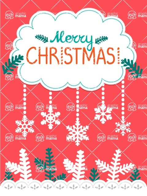 Christmas Card Vector Graphics Maker - Card with Cut Paper Effect