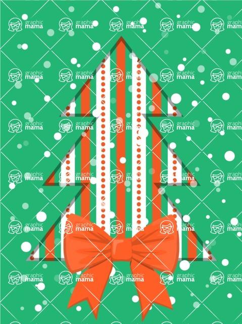 DIY Christmas Cards - Christmas Tree with Bow