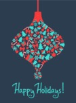 Christmas Card Vector Graphics Maker - Happy Holidays Card