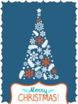 Christmas Card Vector Graphics Maker - Christmas Card Simple Tree