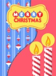 Christmas Card Vector Graphics Maker - Christmas Card with Candles