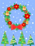 Christmas Card Vector Graphics Maker - Christmas Wreath Card