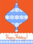 DIY Christmas Cards - Happy Holidays Card with Snowflakes