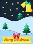 Christmas Card Vector Graphics Maker - Christmas Night Card