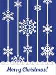 Christmas Card Vector Graphics Maker - Christmas Card with Snowflakes