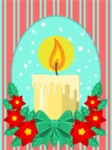 Christmas Card Vector Graphics Maker - Card with Christmas Flower