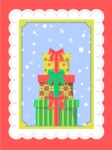 Christmas Card Vector Graphics Maker - Card with Christmas Presents