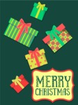 Christmas Card Vector Graphics Maker - Material Design Card with Presents