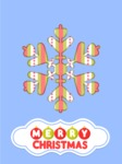 Christmas Card Vector Graphics Maker - Christmas Card with Snowflake