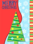 Christmas Card Vector Graphics Maker - Christmas Card with Simple Tree