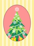 Christmas Card Vector Graphics Maker - Christmas Tree with Snowflakes Card