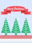 Christmas Card Vector Graphics Maker - Christmas Trees Card