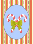 Christmas Card Vector Graphics Maker - Christmas Card with Candy Canes