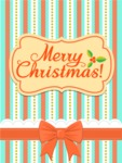 Christmas Card Vector Graphics Maker - Christmas Card with Bow