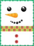 Christmas Card Vector Graphics Maker - Christmas Card with Snowman