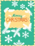 DIY Christmas Cards - Simple Greeting Card with Snowflakes