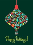 Christmas Card Vector Graphics Maker - Happy Holidays Card with Ornament