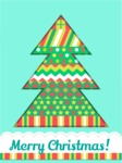 Christmas Card Vector Graphics Maker - Christmas Tree Greeting Card