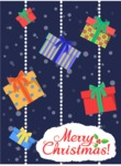 Christmas Card Vector Graphics Maker - Greeting Card with Christmas Presents