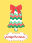 Christmas Card Vector Graphics Maker - Christmas Card with Bell