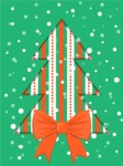 Christmas Card Vector Graphics Maker - Christmas Tree with Bow