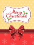 Christmas Card Vector Graphics Maker - Christmas Card Gold and Red