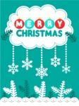 Christmas Card Vector Graphics Maker - Christmas Card with Snow and Frost