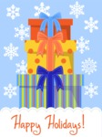 Christmas Card Vector Graphics Maker - Christmas Card with Presents