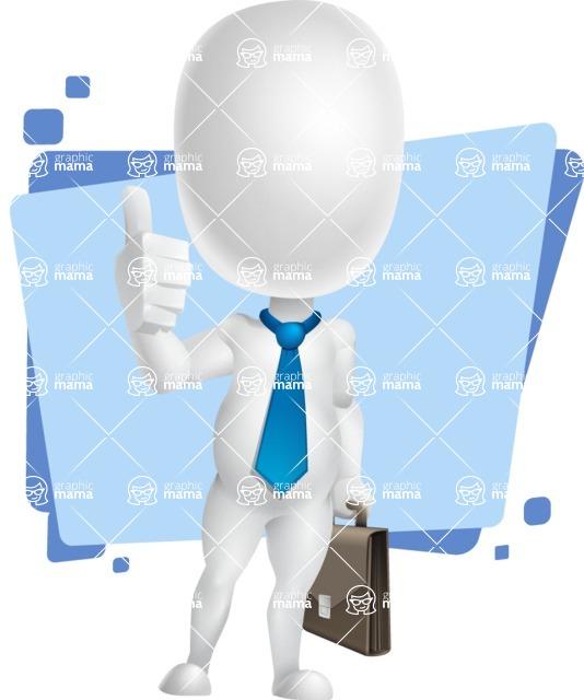 Vector 3D Business Cartoon Character AKA Plumpy - Shape5