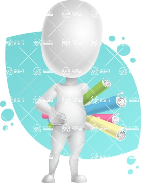 Vector 3D Business Cartoon Character AKA Plumpy - Shape8
