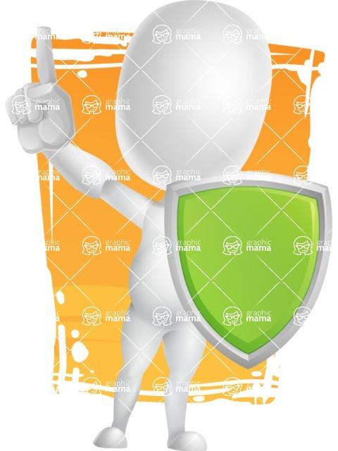 Vector 3D Business Cartoon Character AKA Plumpy - Shape11