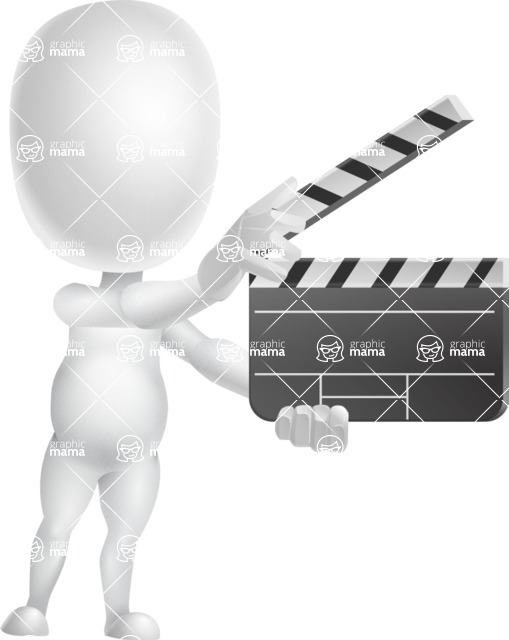 Vector 3D Business Cartoon Character AKA Plumpy - Movie