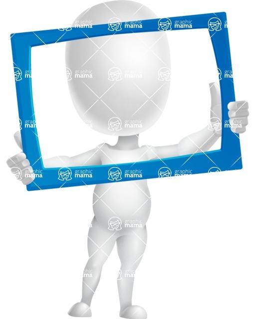 Vector 3D Business Cartoon Character AKA Plumpy - Frame