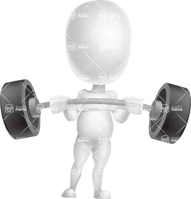 Vector 3D Business Cartoon Character AKA Plumpy - Strong