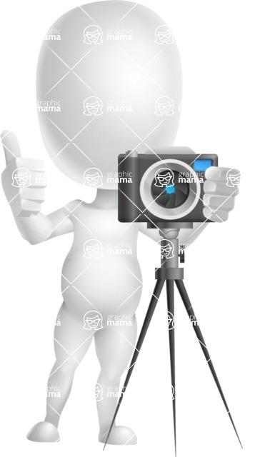 Vector 3D Business Cartoon Character AKA Plumpy - Photo