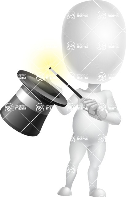 Vector 3D Business Cartoon Character AKA Plumpy - Abracadabra