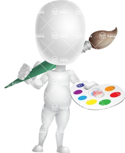 Vector 3D Business Cartoon Character AKA Plumpy - Artist