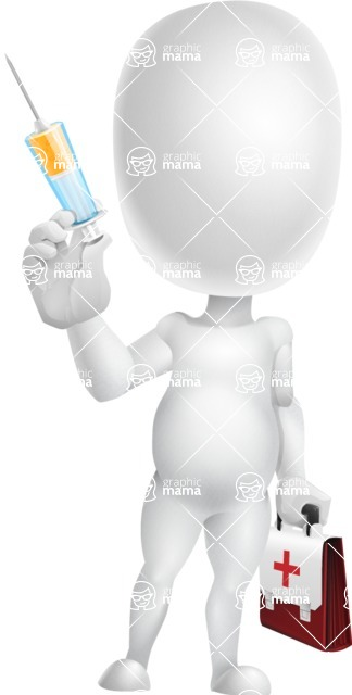 Vector 3D Business Cartoon Character AKA Plumpy - Doctor