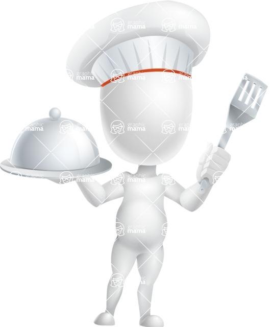 Vector 3D Business Cartoon Character AKA Plumpy - Chef