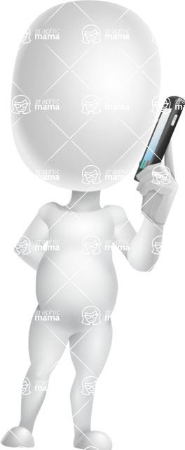 Vector 3D Business Cartoon Character AKA Plumpy - Support 1