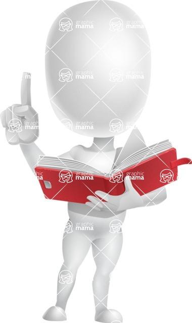 Vector 3D Business Cartoon Character AKA Plumpy - Book 2