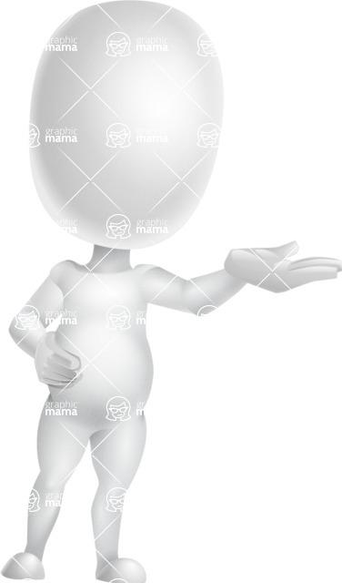 Vector 3D Business Cartoon Character AKA Plumpy - Showcase