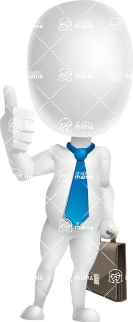 Vector 3D Business Cartoon Character AKA Plumpy - Businessman