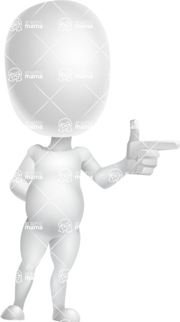 Vector 3D Business Cartoon Character AKA Plumpy - Point