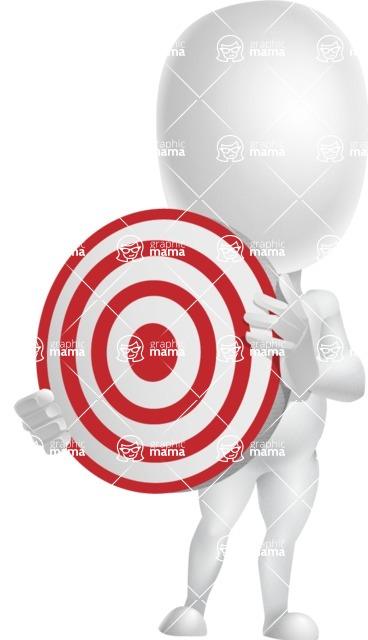 Vector 3D Business Cartoon Character AKA Plumpy - Target