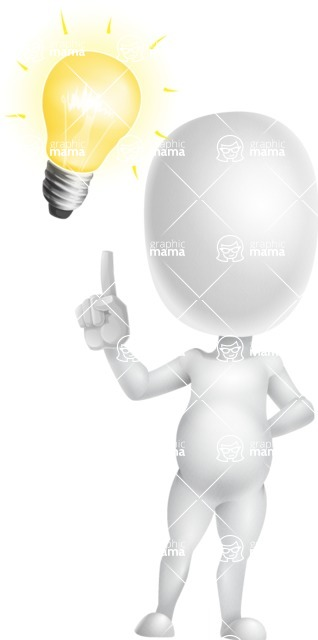 Vector 3D Business Cartoon Character AKA Plumpy - Idea