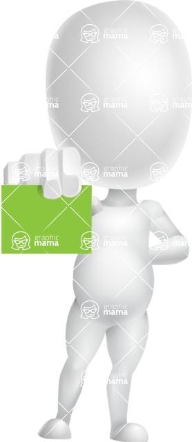 Vector 3D Business Cartoon Character AKA Plumpy - Sign 5